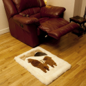 Baby Alpaca Fur Bed Side Rug