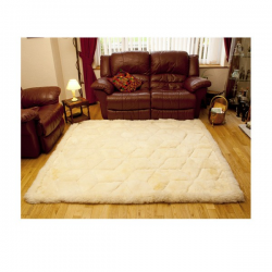 Huge Baby Alpaca Fur Rug