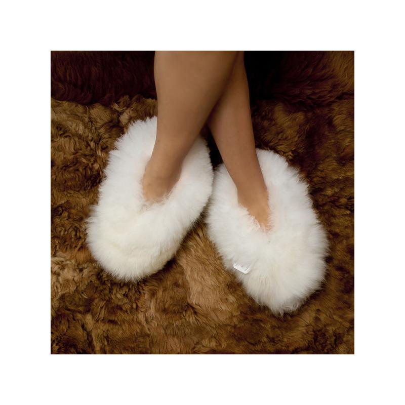 baby alpaca fur fluffy slippers