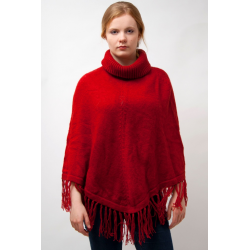 Ladies Poncho Roll Neck