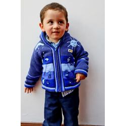 Children's Fleece Lined Jacket Denim