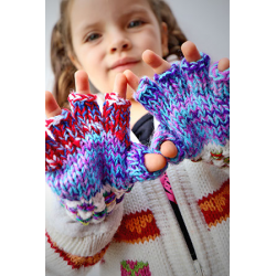 Children's Fingerless Gloves with Top