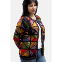 Intarsia Rombos Jacket