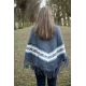 V-Neck Poncho with Collar