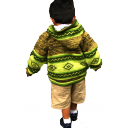Children's Fleece Lined Jacket Green