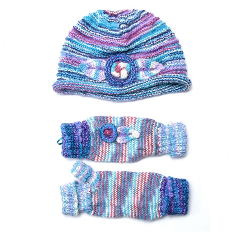 Scarf Knitting Kits Uk : Dana hat scarf mittens alpaca select free shipping