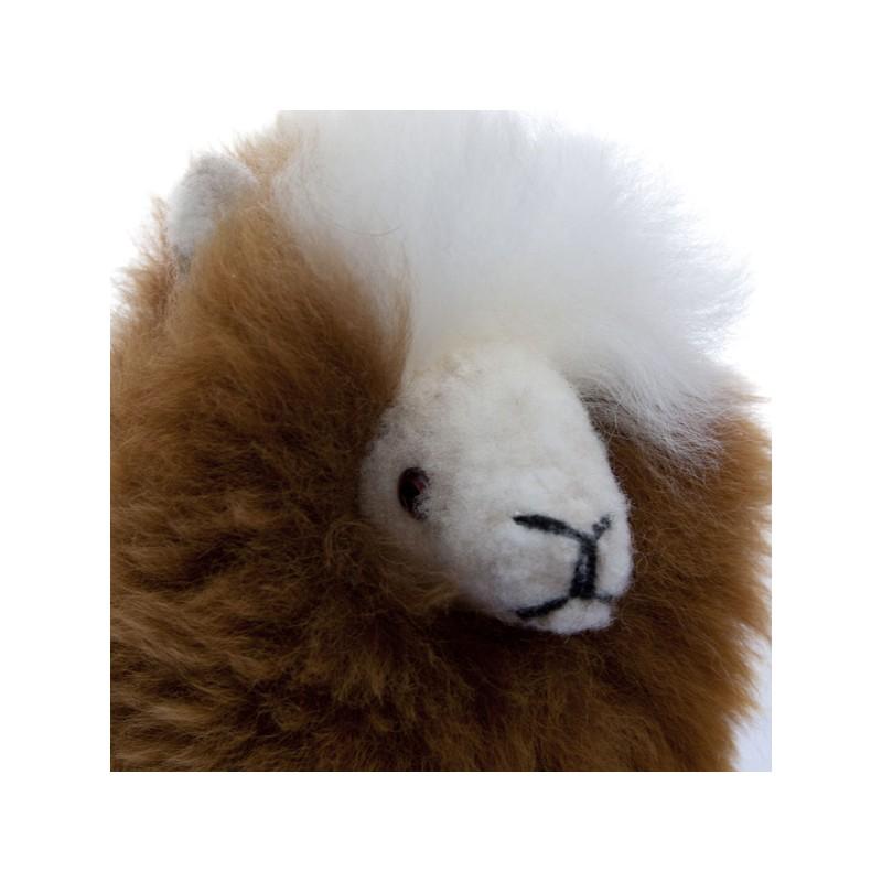 fluffy alpaca fur teddy bear
