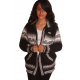 Inca Collar Fleeced jacket Black