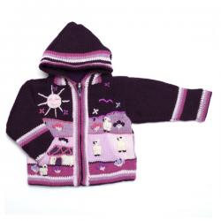 Alpaca Lined Jacket Purple