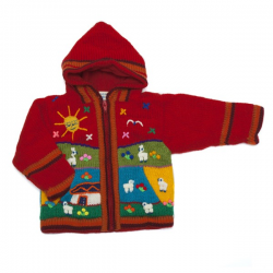 Fleece Lined Jacket Red