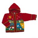 Fleece Lined Jacket Red