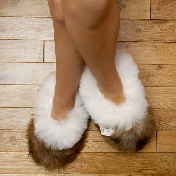 68313ed18459 Baby Alpaca Fur Fluffy Slippers