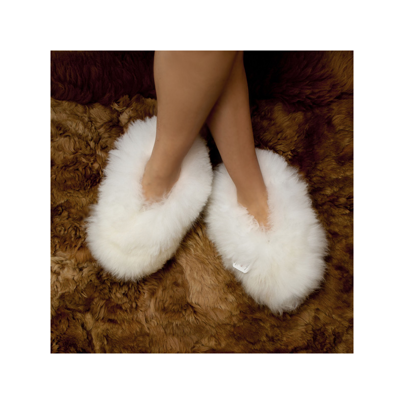 Baby Alpaca Fur Fluffy Slippers