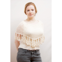 Ladies Sheela Cotton Poncho Net