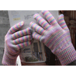 Alpaca hand dyed Gloves