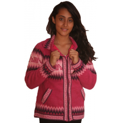 Ladies Inca Fleeced Collared Jackets