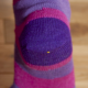 Ladies Stripy Alpaca Socks Pink