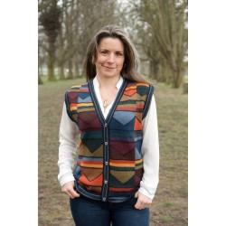 Ladies Intarsia Waistcoat