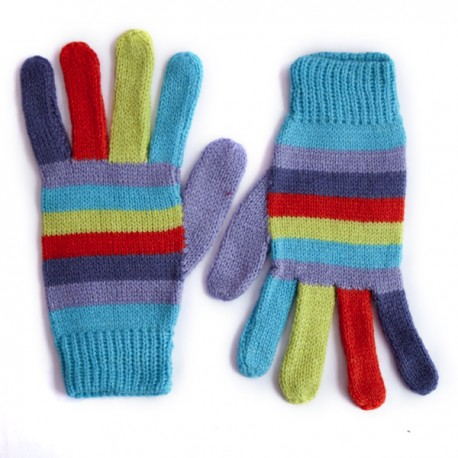 Stripy Pastel Gloves