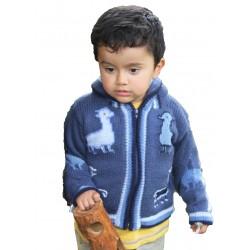 Children's Alpaca Design Jacket Pink