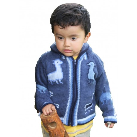 Children's Alpaca Design Jacket Denim