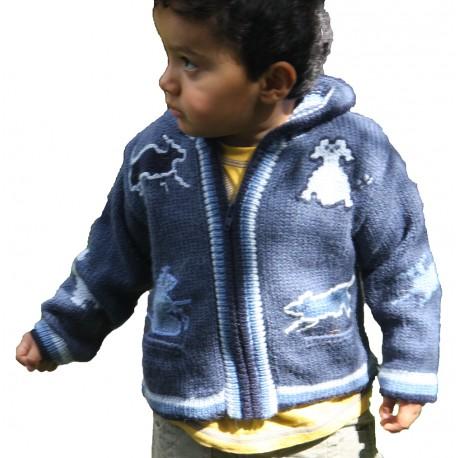 Children's Alpaca Design Jacket Denim