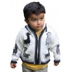 Children's Lamb Design Jacket Grey