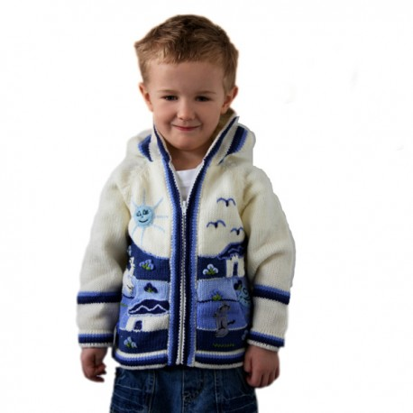 Children Alpaca Jacket Mid Moon