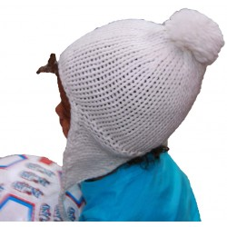 Plain Alpaca Hat White