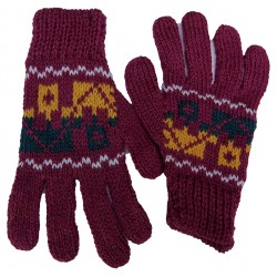 Children's Colourful Alpaca Gloves