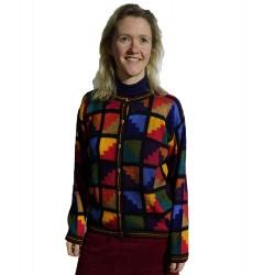 Intarsia Lizzie Alpaca Jacket Jacket