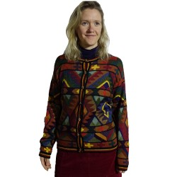 Intarsia Calendario Alpaca Jacket