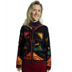 Ladies Intarsia Graphic Jacket