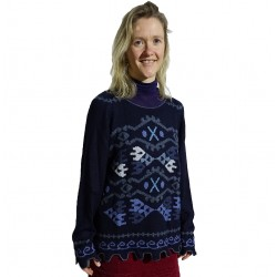 Ladies Intarsia Carla Alpaca Jumper