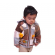 Alpaca Lined Jacket with Puppets-Natural