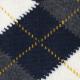 Intarsia Navy Alpaca Socks